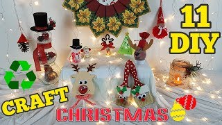 11 DIY Christmas recycled crafts tutorial / HOW TO!