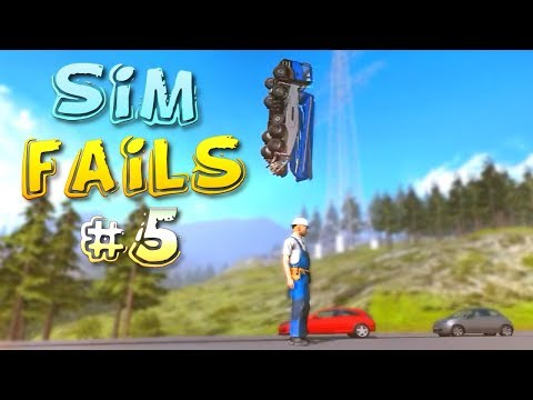 Simulation Games FAILS Compilation #5 (Euro Truck, Farming, Train Simulator) |
