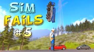 Simulation Games FAILS Compilation #5 (Euro Truck, Farming, Train Simulator)