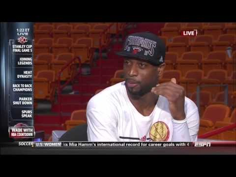 June 20, 2013 - ESPN - Dwyane Wade Interview - 2013 NBA Finals Game 07 (Heat Vs Spurs)