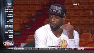 June 20, 2013 - ESPN - Dwyane Wade Interview - 2013 NBA Finals Game 07 (Heat Vs Spurs)