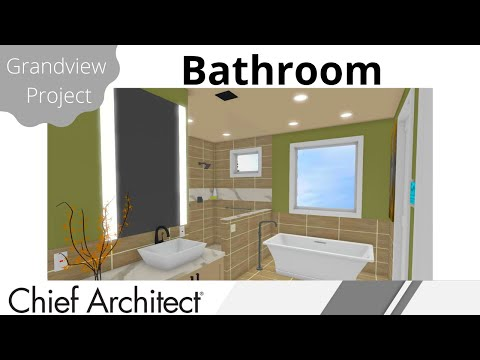 Master Bath Layout, Vanities, Shower, & Construction Drawings  – Grandview Build Project