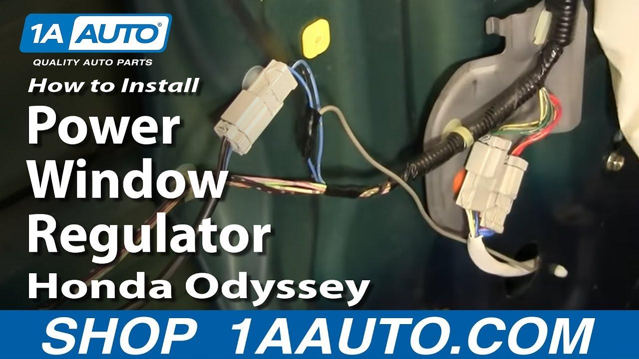 How To Install Replace Power Window Regulator Honda
