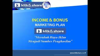 Video Penjelasan Marketing Plan Klik & Share