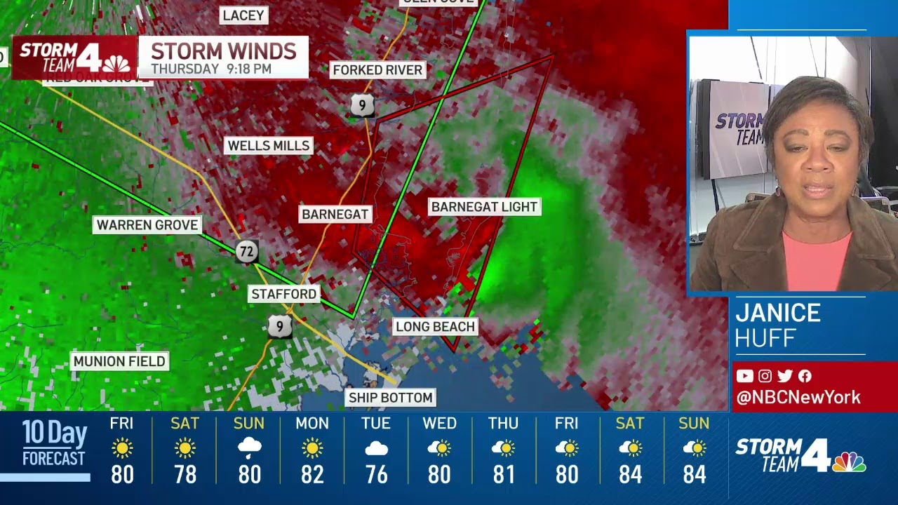 New Jersey counties under tornado warning as Tropical Depression ...