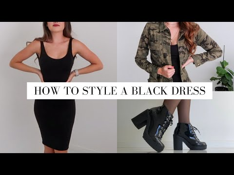 How To Style A Little Black Dress   8 Different Ways   HOLLY POWER - YouTube