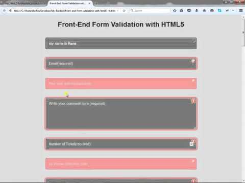 Front End Form Validation With Only HTML5 Part 4