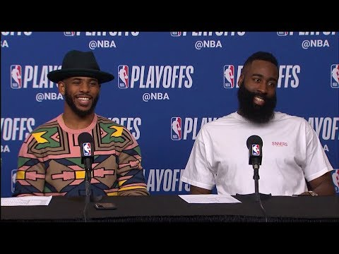 Chris Paul, Harden & Tucker Postgame Interview - Game 5   Jazz vs Rockets   2018 NBA Playoffs