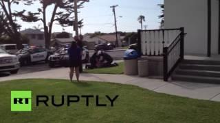 ԱՄՆ-ում ոստիկանները ծեծում են կնոջը ամրագոտին չկապելու համար 18+