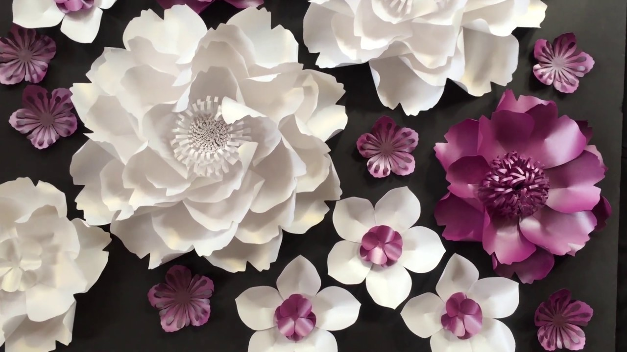 Paper flowers wedding backdrop youtube paper flowers wedding backdrop mightylinksfo