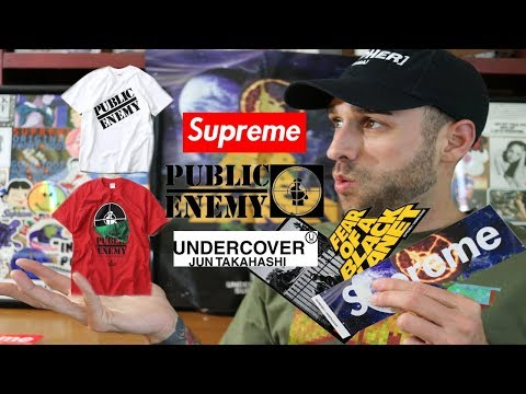 SUPREME x UNDERCOVER x PUBLIC ENEMY COLLAB