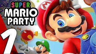 SUPER MARIO PARTY - Gameplay Walkthrough Part 1 - Prologue (Full Game) Switch