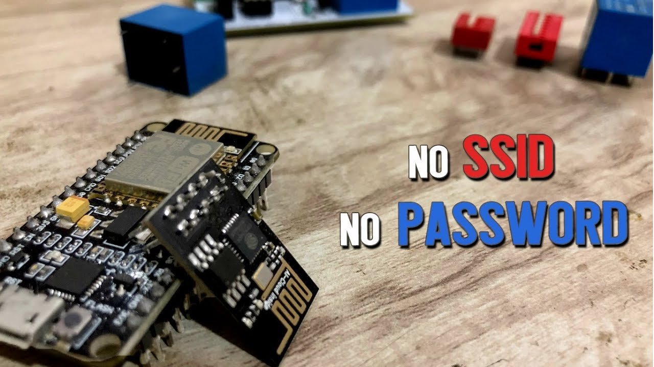 No need of writing wifi credentials in the code | ESP8266 Smart Config |  ESP8266 projects by techiesms