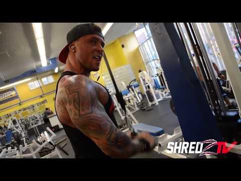 SHREDZTV Body Builder Alex Turner trains at Dumbbells 247 Gym in North Bergen NJ
