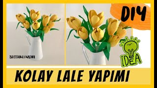 10 TLYE 10 TANE LALE YAPTIM Kendin Yap/Do It Yourself/Dıy/Ideas/How To Make Tulip