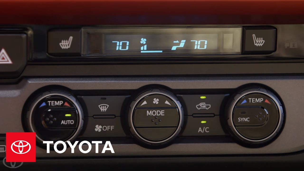 The New Tacoma l Dual Zone Automatic Climate Control | Toyota