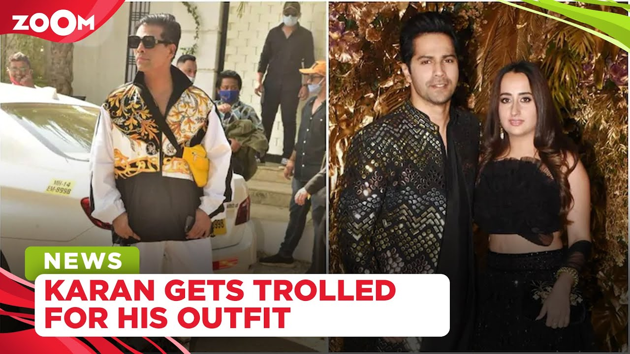 Karan Johar brutally trolled by netizens for his outfit at Varun Dhawan's wedding