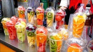 Nước ép trái cây street food Hàn Quốc - Street food Korea