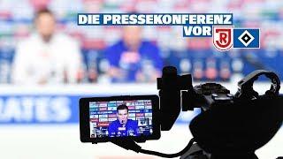RELIVE: Die Pressekonferenz vor dem Spiel beim SSV Jahn Regensburg