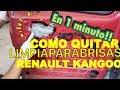 EN 1 MINUTO!!! QUITAR el LIMPIAPARABRISAS Renault Kangoo - Puerta Trasera Izquierda