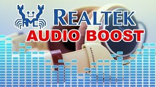 Besser Sound! Realtek HD Audio Boost | Equalizer Einstellungen