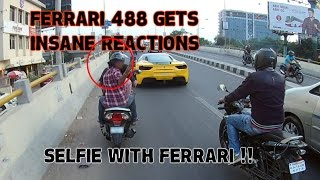 Ferrari 488GTB Mind blowing reactions in India | SupercarsInBangalore |#70