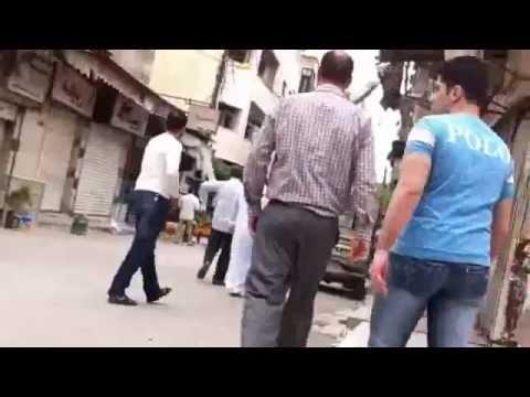 اطلاق النار على المظاهرة 2012/5/4 دمشق جوبر/e