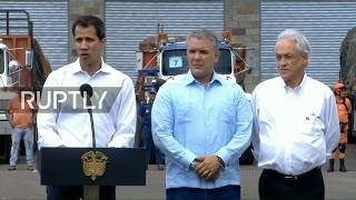 LIVE: Presidents of Colombia, Chile, and Paraguay hold press conference at Venezuelan border