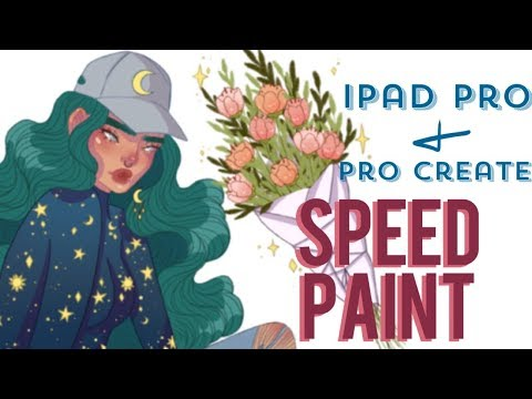 """iPad Pro + Pro Create Speedpaint   """"Witch Florist?""""   Keely Elle"""