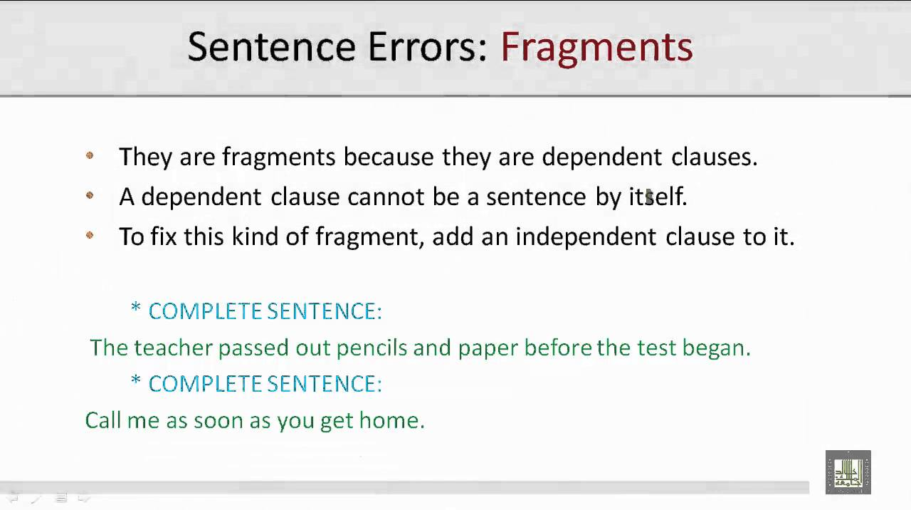 sentence fragments examples writing a profile