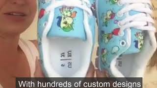 Review of our Kids/Parents Matching Sneakers - Printed Kicks