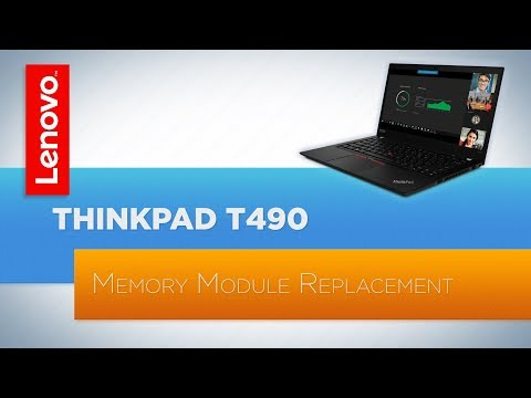 ThinkPad T490 Laptop Memory Module Replacement
