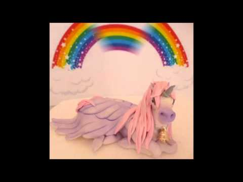 Winged Unicorn Alicorn Pegasus Fondant Cake Topper