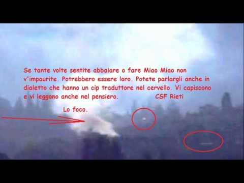 Ufo e vulcano. Marziani salvano Cantalice e Rieti da lo foco 22.10.2012  CSF Rieti