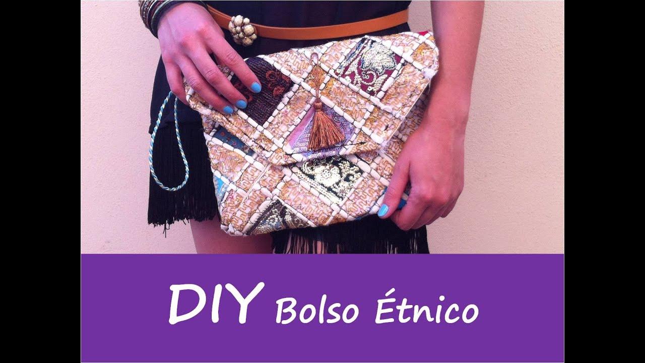 patrones DIY: TUTORIAL BOLSO ETNICO (bolso fiesta) - YouTube