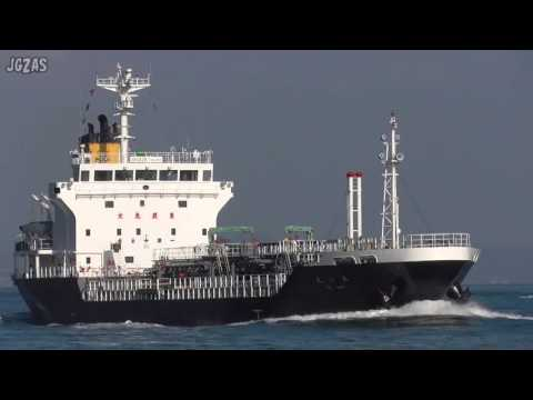 REI MARU れい丸 Oil products tanker プロダクトタンカー 上野トランステック 関門海峡 2015-DEC