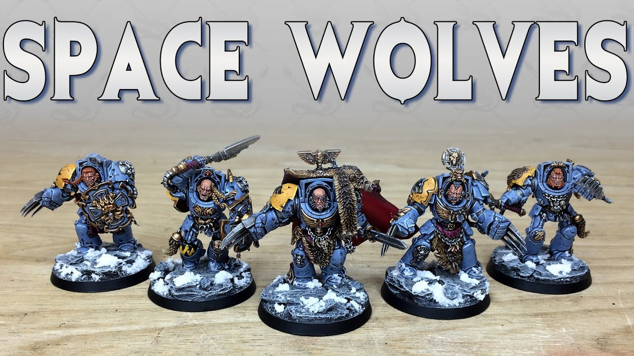 PAINTING SHOWCASE Wolf Guard Space Wolves Space Marines Warhammer 40k