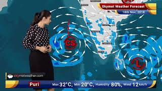Weather Forecast Nov 18: Depression to strengthen into a Cyclonic Storm