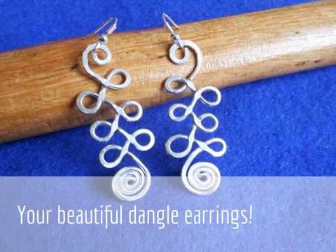 How to make wire earrings. celtic knot spiral. Tutorial 1 by Aboli Jewelry