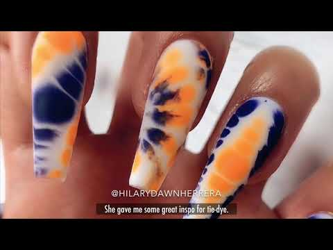NAIL ART-easy Tie-dye Nails
