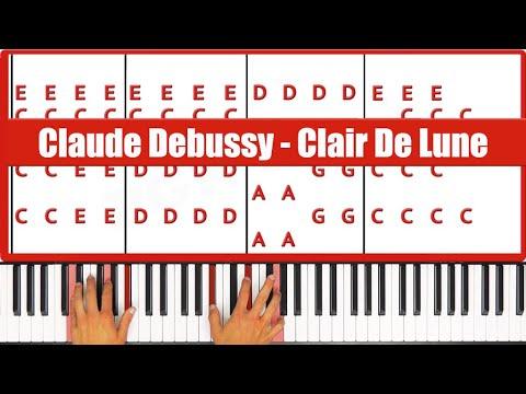♫ ORIGINAL - How To Play Clair De Lune Debussy Piano Tutorial Lesson! - PGN Piano