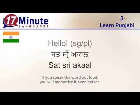 Learn Punjabi (free language course video)