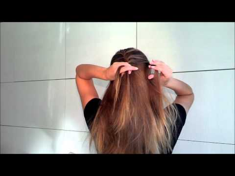 Романтическая прическа свободный колосок своими руками, Romantic hair tutorial