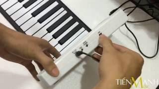 Cách Kết Nối Máy Tính & Thu Âm Midi Trên Piano Cuộn 88 Phím - Roll Up Piano