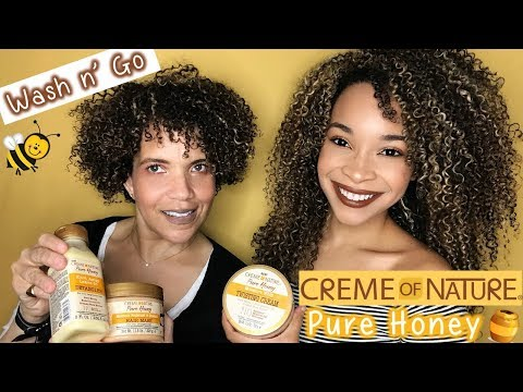 Creme of Nature Pure Honey Review/Tutorial | Wash n' Go
