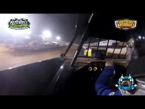 #144 Chicky Barton - Super Late Model - 7-2-17 Tazewell Speedway - In-Car Camera