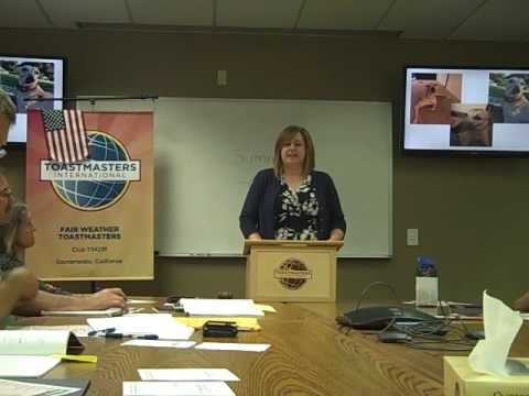 """Fair Weather Toastmasters  Tracy Hinojosa  6/1/16  """"Cyber Crime"""""""