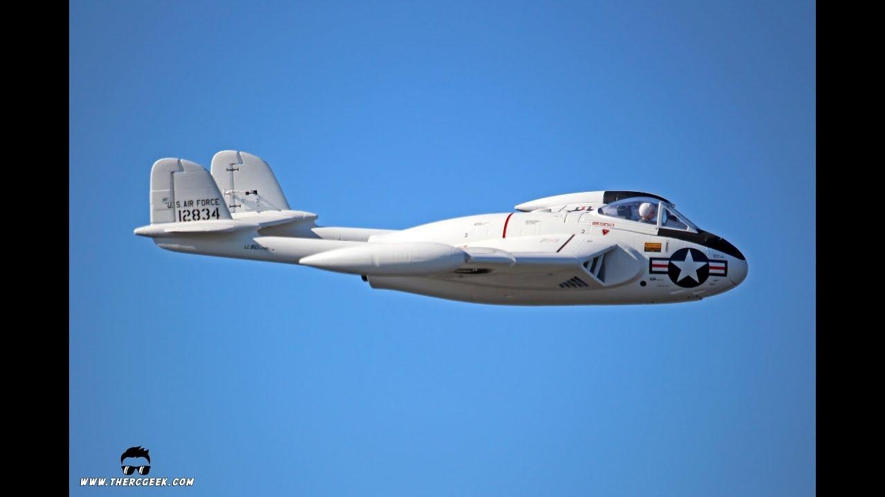 Corsair Nut's de Havilland Venom (Freewing) EDF Flight at MRCF