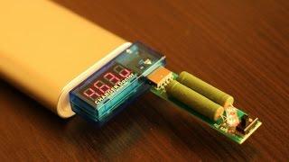 usb тестер нагрузочный резистор 1 2 а tester power detector usb charger doctor mobile battery