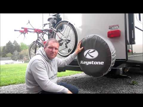 Mounting the bike rack to the camper!
